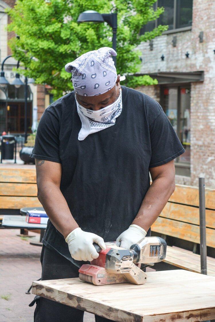 Worker in Charlottesville