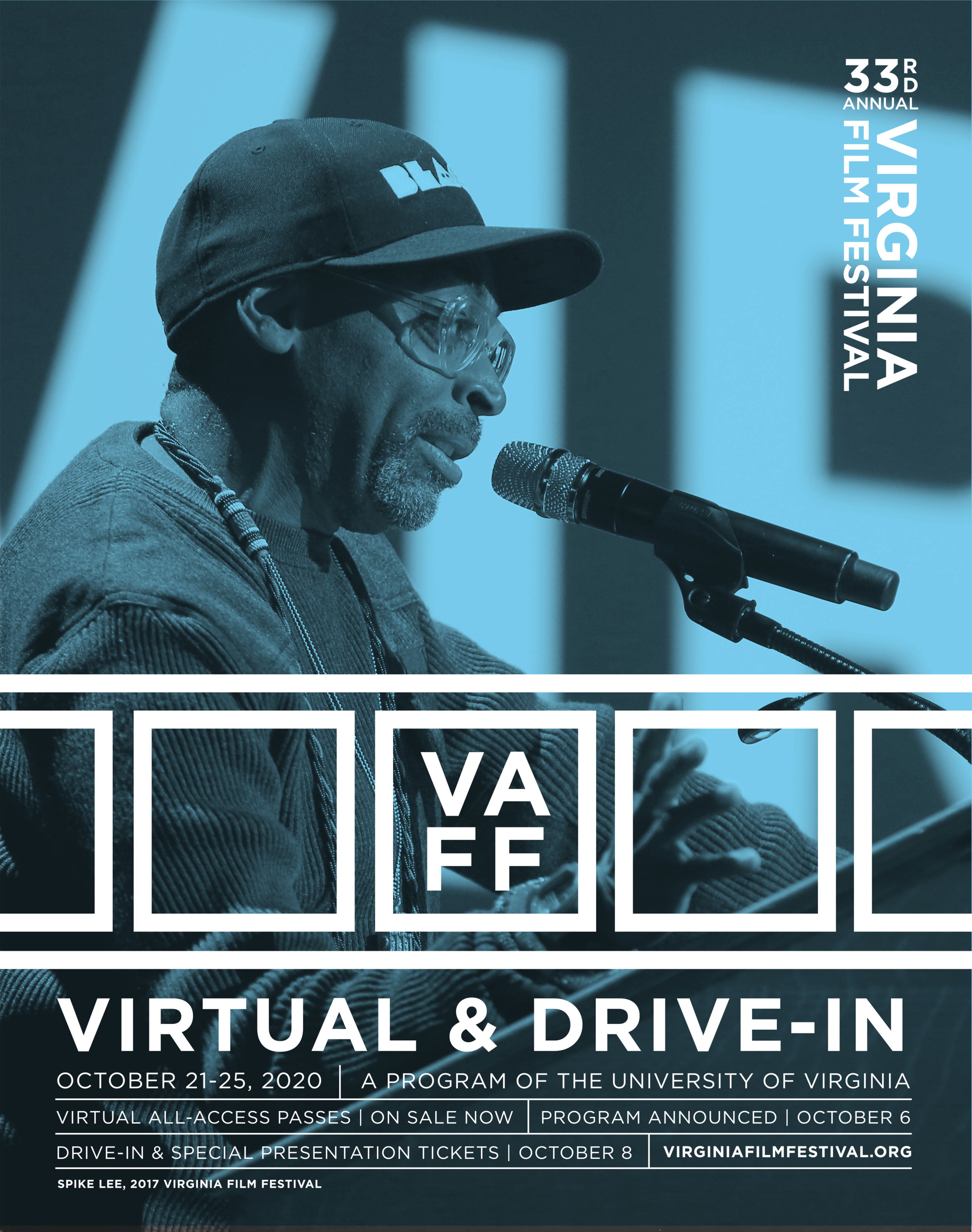 Announcement for the Virginia Film Festival going virtual